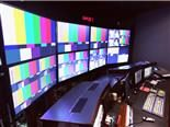 Television news control room.