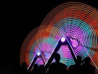 circular light exhibit