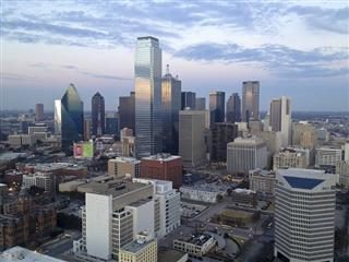 Sky-level view of downtown Dallas