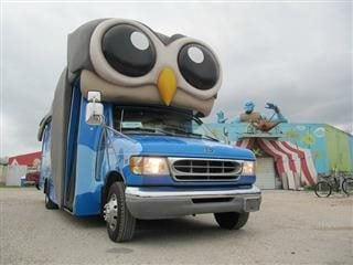 Hootsuite shuttle bus.