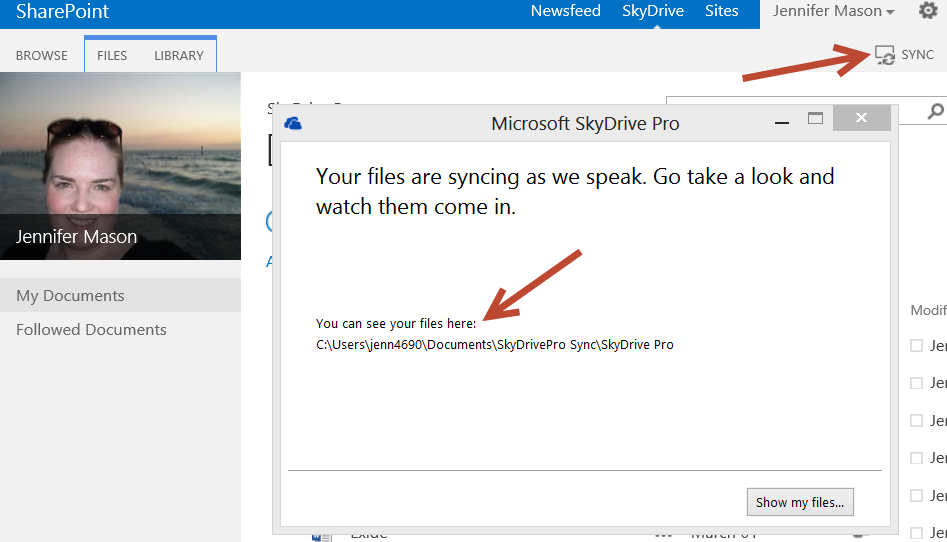 SkyDrive Pro Sync