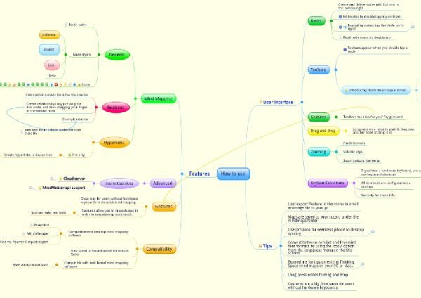 Thinking Space is a mind-mapping app for Android