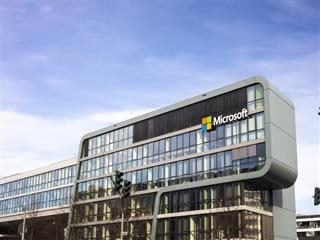 Outside of Microsoft German headquarters in Cologne, Germany.