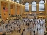 time lapse photo of busy grand central main hall