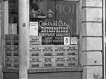 Enterprises newspaper headlines shop. Vintage picture taken in 1979
