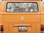 volkswagen van with personalized plates reading: BND WGN