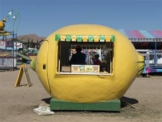 a very literal lemonade stand