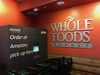 Whole Foods Store with Amazon collection spot — when online and offline collide