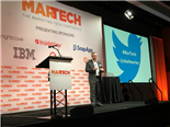 scott brinker on stage presenting about the marketing technology landscape at a recent tradeshow
