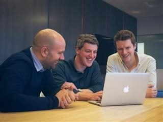Litmus Email-Marketing Team: David Smalley (Litmus Managing Director, International & Co-Founder), Paul Farnell (Litmus CEO, Co-Founder), Matthew Brindley (Litmus CTO, Co-Founder)