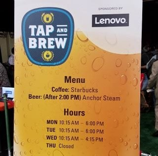 Lenovo tap and brew