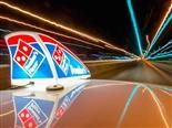 time laps domino's pizza delivery image