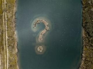 topographic question mark