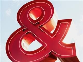 large red ampersand