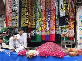 Shop outside of shrine in Lahore
