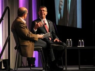 Defense Sec. Ashton Carter speaks with Ted Schlein at RSA 2016