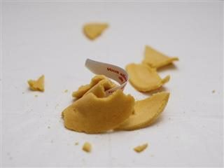 crumbled fortune cookie