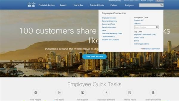 Cisco Employee Homepage