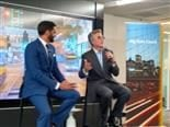 Global Head of SAP Database and Data Management Sales Irfan Khan and SAP CEO Bill McDermott announcing the SAP Data Hub