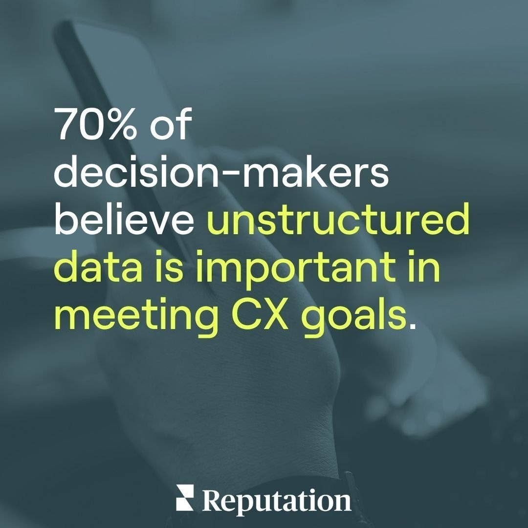 Unstructured data is important in meeting customer experience goals.