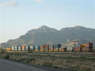 Freight Train in Tuscon, Arizona