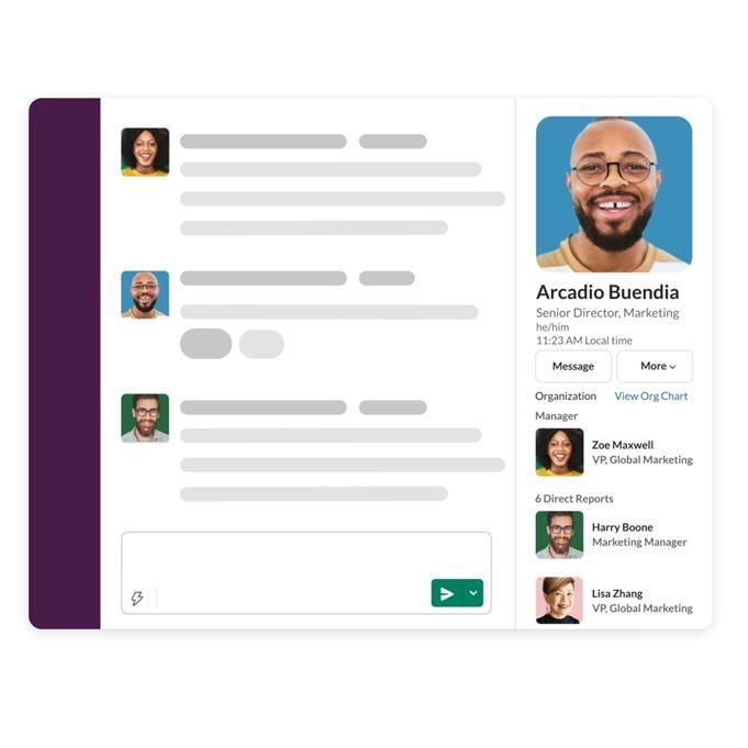 Screenshot showing Slack's new product, Slack Atlas