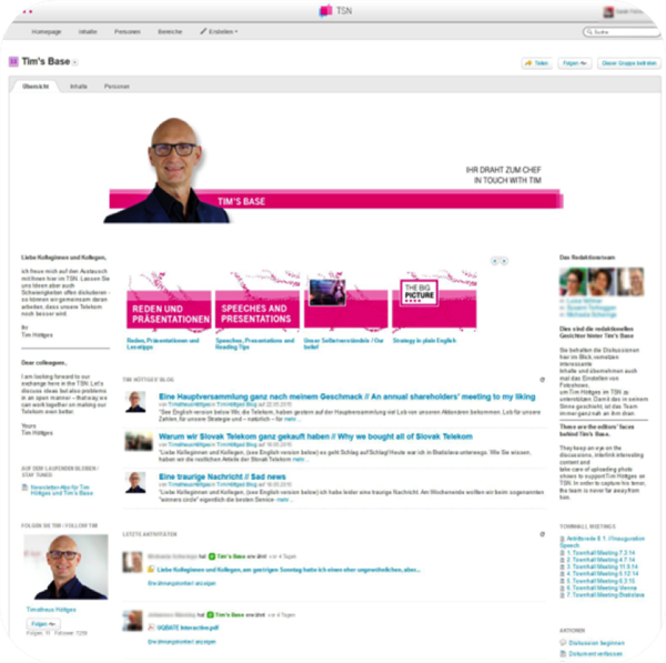 Deutsche Telekom communication platform
