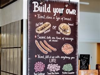 build your own sandwich menu selections