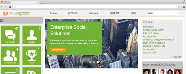 social enterprise, social business, newsgator, social sites, Social Intranet