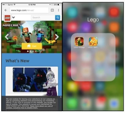 Lego's mobile application experience