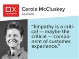 "Tealium's Carole McCluskey: ""Empathy  is a critical -  maybe the critical - component of customer experience."""
