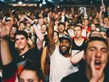 audience at a concert cheering