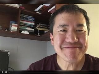 screen capture of Dennis Shiao on live video