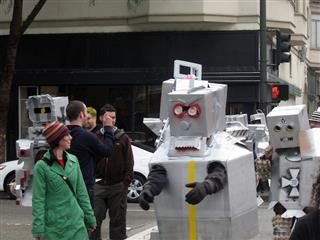 robots walking in San Francisco