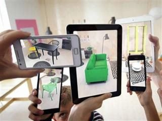 furniture showroom with augmented reality examples