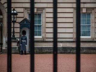 royal guard standing watch in London