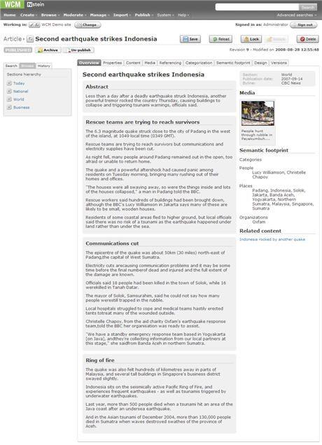 Enhanced Editorial Capabilities Key to Nstein WCM 4.0