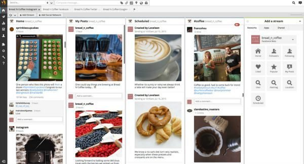 screenshot of the technology integration between hootsuite and instagram