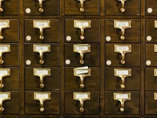 old card catalogue
