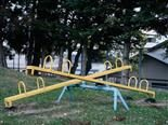 seesaws in empty playground