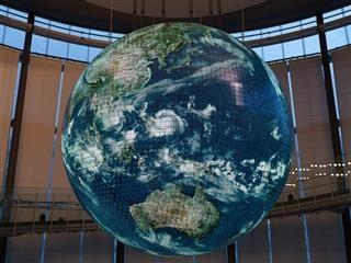 planet earth disco ball sculpture