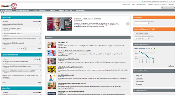 FOA Net intranet home page
