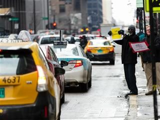 uber protests in Chicago