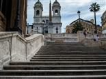 Concrete steps in Rome.