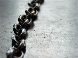 close up of a chain