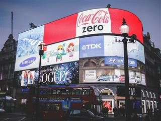 Advertising in Piccadilly Circus, London