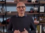 Satya Nadella introducing Microsoft Viva in an online address