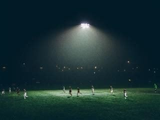 soccer game at night