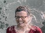 woman drenched with water