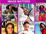 Screenshot of black women on magazine covers, from Cheryl Grace of Nielsen's DX Summit 2020 presentation Oct. 21, 2020